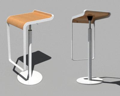 lem piston stool 3d model