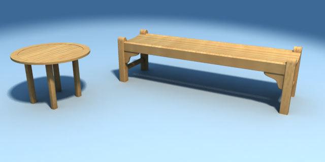 smith bench 3d model