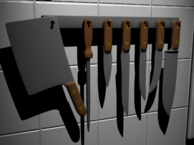 3d model of knife knives cleaver