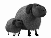 3d cartoon sheep model