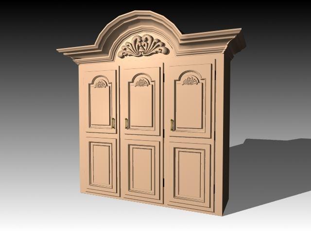 3d furniture cabinet wardrobe
