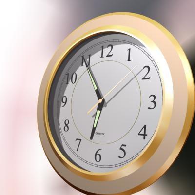 quartz clock 3d max
