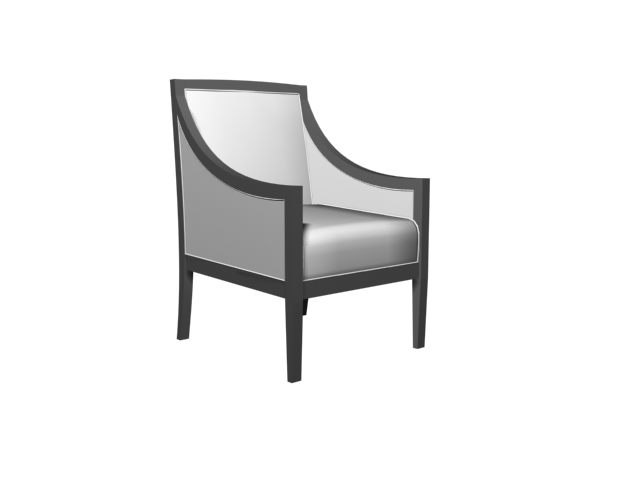 3d model of stuffed chair living room