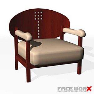 3d model faceworx armchair