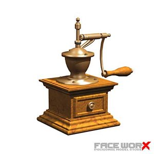 3d model of coffee grinder