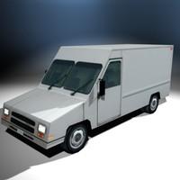 utility cargo truck 3d max