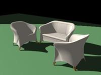 furniture chair 3d max
