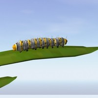 3d model forester caterpillar