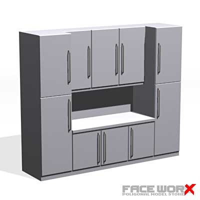 3ds max kitchen cabinet