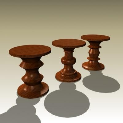 charles eames stools 3d max