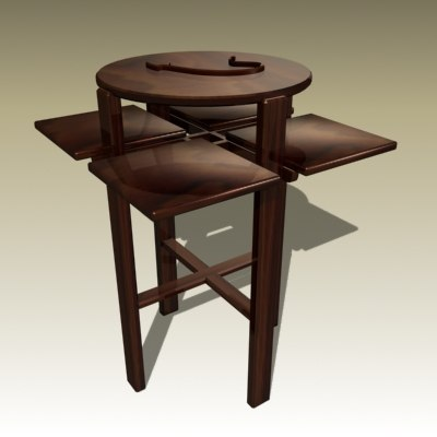 charles rennie table 3d model
