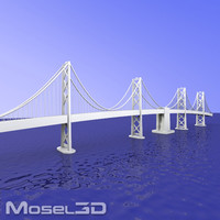 3d model bay bridge