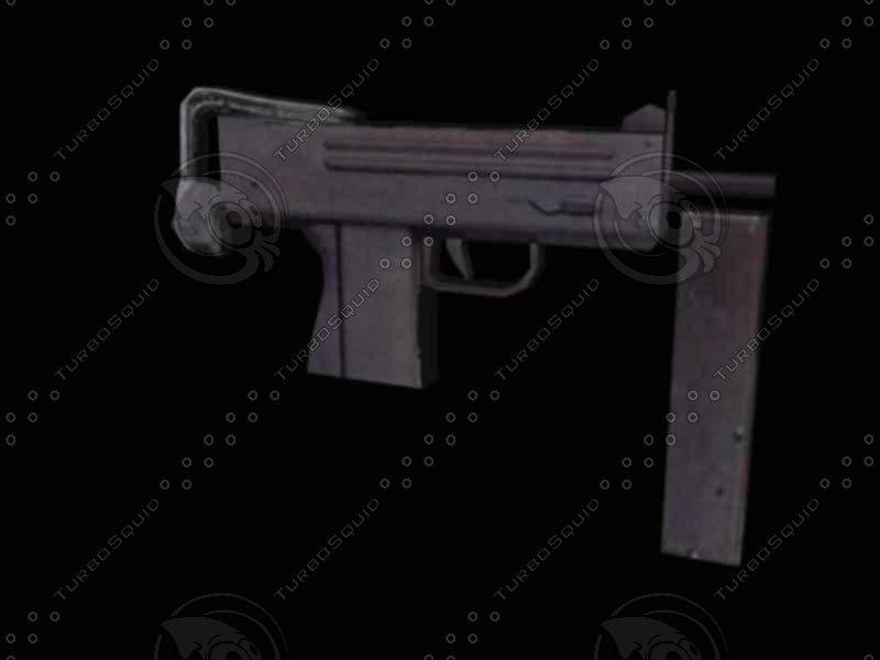 handgun gun weapon 3d model