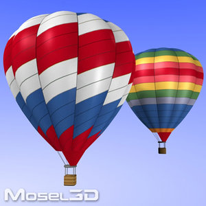 3d max hot air balloons