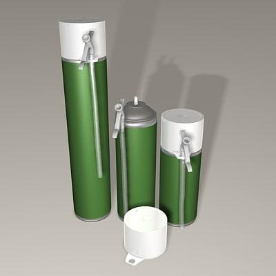 3ds max construction foam bottles