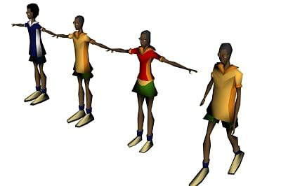 cartoon avatars 3d max