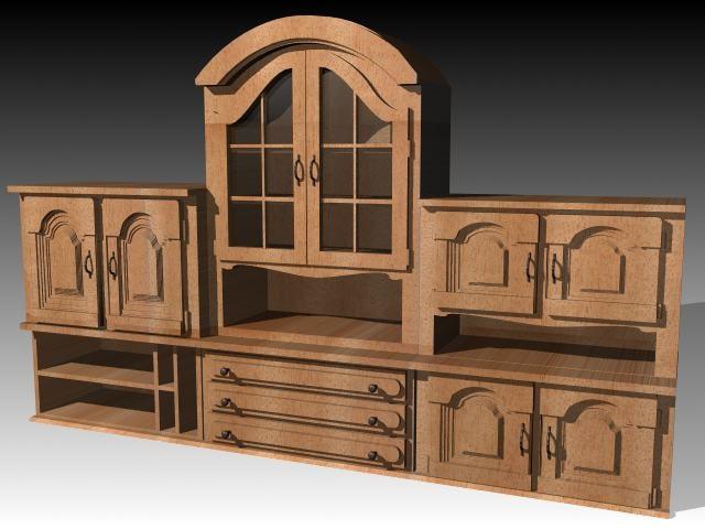 3d model furniture cabinet