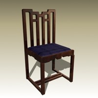 3d charles rennie chair model