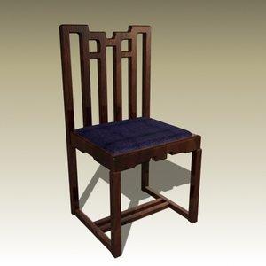 3d charles rennie chair model