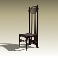 3d charles rennie chair 1