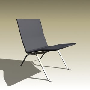 3ds max poul kjaerholm chair