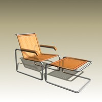 3d marcel breuer lounge chair model