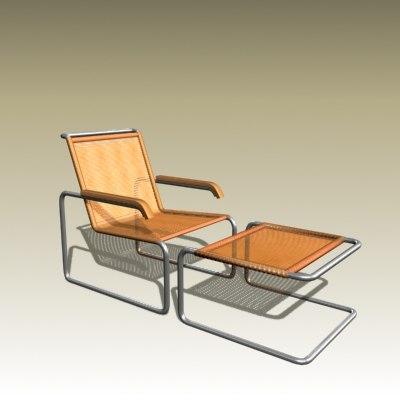 3d marcel breuer lounge chair model