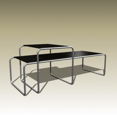 3d marcel breuer table model