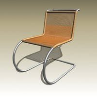 3d model of ludwig mies mr10 chair
