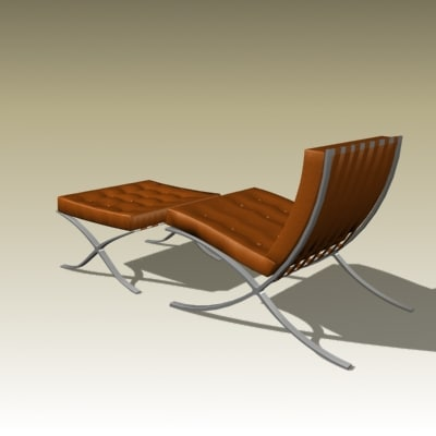 mies van barcelona chair 3d model