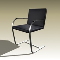 ludwig mies brno chair 3d model