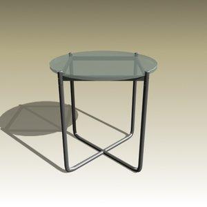 3d model ludwig mies table