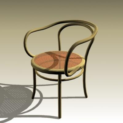 3dsmax michael bentwood chair
