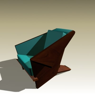 3ds max frank armchair 1