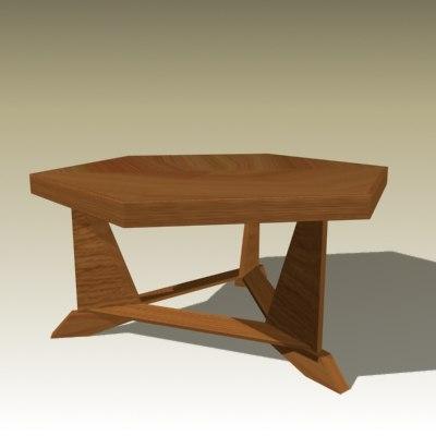 3d frank table model
