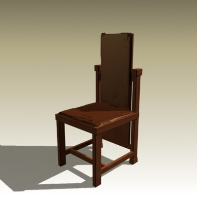 3d frank s chair model