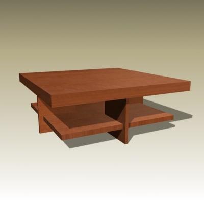 3d frank coffee table model