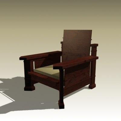 frank armchair 3d max