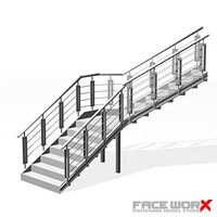 stair staircase 3d model