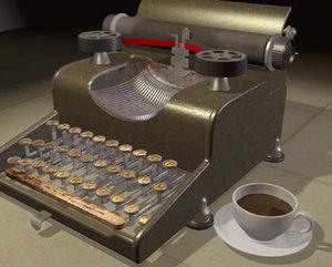 3ds max typewriter