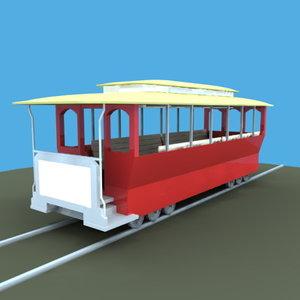 cable car 3d model