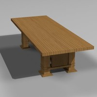 3d table frank lloyd