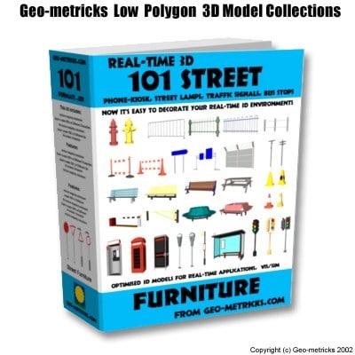 street furniture 3d model