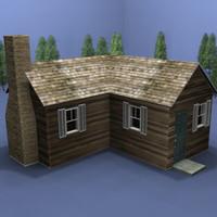 3d model of cabin