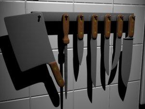 cleaver knife set 3ds