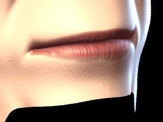 3d mouth human face