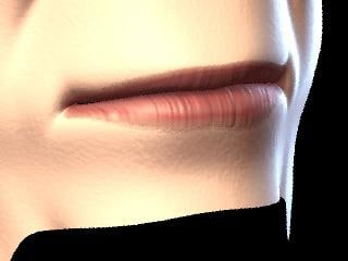 3d mouth human face