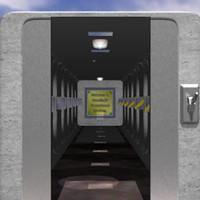 3dsmax tunnel hallway