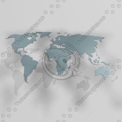 continents 3d model