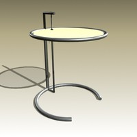 eileen gray table 3d model